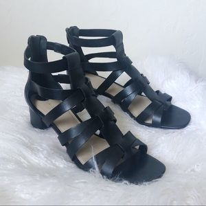Via Spiga Shoes - {Via Spiga} Caged Black Heels